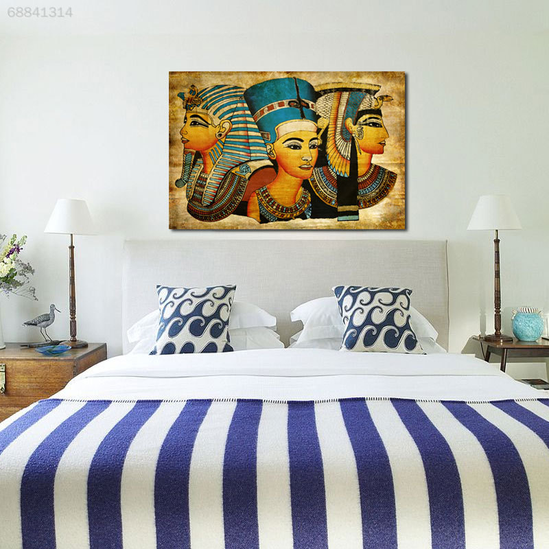 5B86 Retro Ancien Egyptian Murals Full Image Wall Picture Oil Painting 40x60cm
