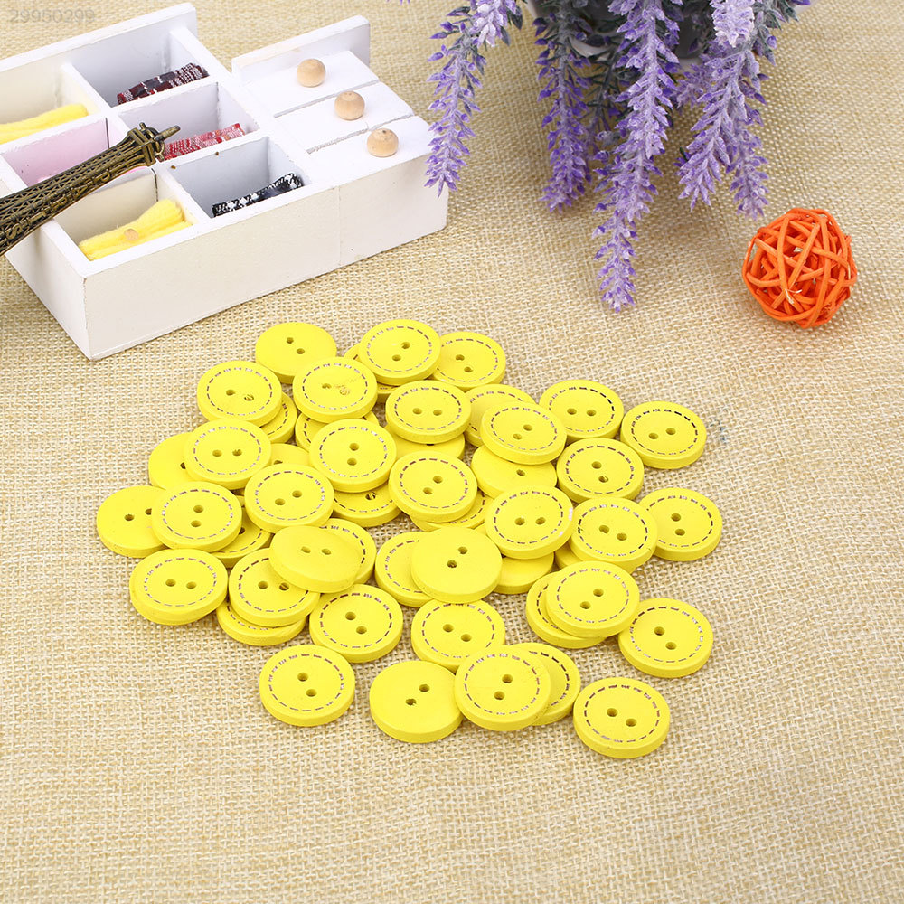 7500-50Pcs-Pack-Round-Wooden-Button-Sewing-DIY-Baby-Scrapbook-Knitting-Buckle