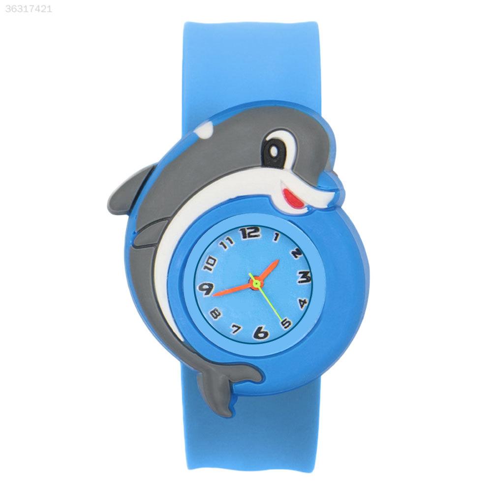 1D0E-Cartoon-Unisex-Slap-Snap-On-Silicone-Quartz-Wrist-Watch-Christmas-Gift